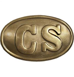 Civil War CS Enlisted Antiqued Oval Belt Buckle Replica