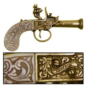 1798 English Non-Firing Flintlock Replica Brass
