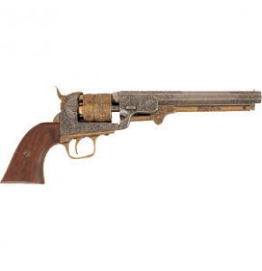 M1851 Gold & Nickel Engraved Navy Pistol Replica