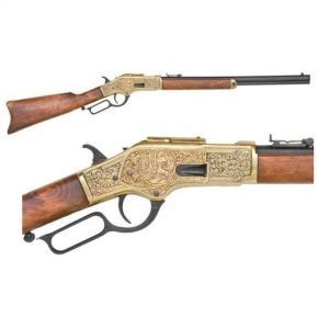 M1873 Brass Engraved Rifle Non-Firing Replica