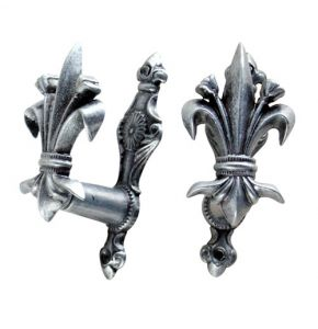 Fleur de Lis Design Gun or Sword Gray Hangers