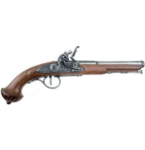 18th Century Antiqued Grey Flintlock Non-Firing Gun Replica