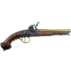 18th Century Flintlock Brass Finish Non-Firing Gun Replica