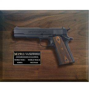 M1911 Armed Forces Automatic Replica Dark Wood Framed Set
