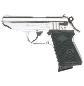 Bruni Bond Style Auto Nickel 9mm Top-Firing Blank Gun