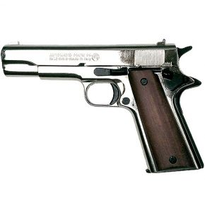 M1911 Gov Auto 8mm Polished Nickel Top Fire Blank Gun