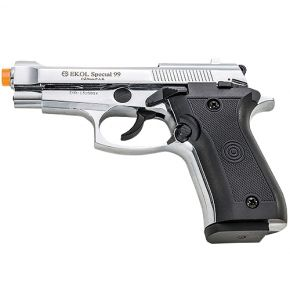 Special 99 High Polished Nickel 9mm Front Firing Blank Gun