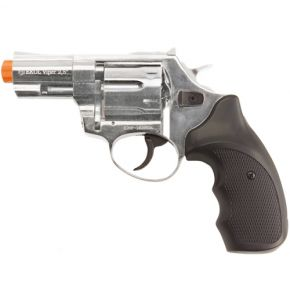 Viper 2.5in Front Firing Nickel 9mm Blank Revolver