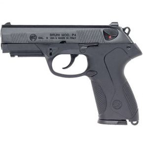 Bruni P4 9mm Automatic Front Firing Blank Gun Black-Blued Finish