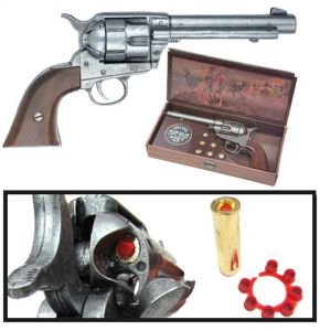 Old West M1873 Army Antiqued Gray Cap Pistol