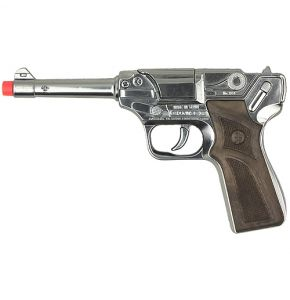 P08 Luger 8 Shot Chrome Cap Pistol