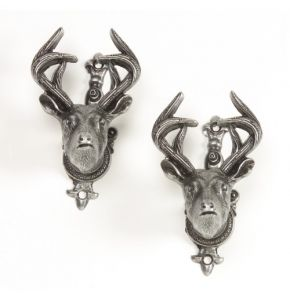 Old West Deer Head Gun Hanger Antiqued
