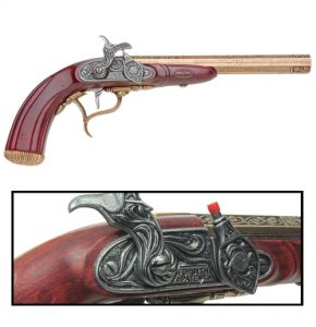 English Percussion Flintlock Pistol Cap Gun
