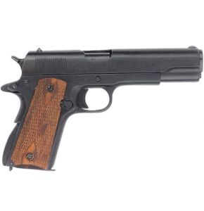 Us Gov. M1911 Checkered Wood Grips Black