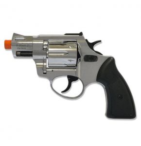RX2 2in Barrel Chrome Front Firing Blank Revolver
