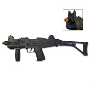 ASI MAX UZI Black Front Firing Blank Machine Gun with Folding Stock