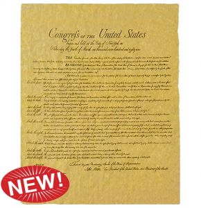 Bill of Rights Replica on Aged Parchment