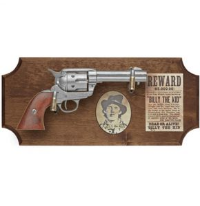 "Billy ""The Kid"" Non-Firing Pistol Set Dark Wood"