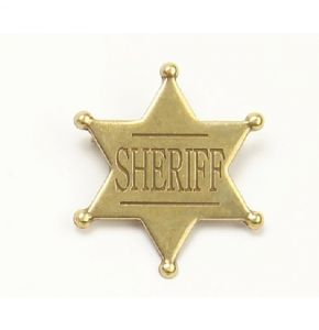 Old West Brass Sheriff Badge Replica