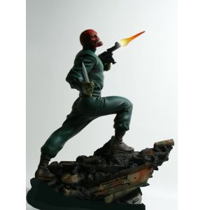 Bowen Captain America Red Skull Action Statue