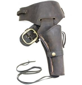 Fast Draw Oiled Brown Leather Western Holster - LG