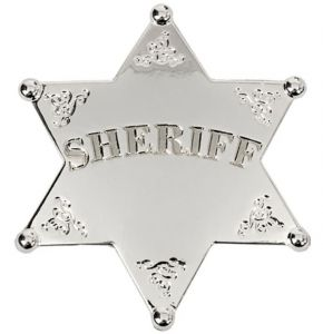 Silver Plated Old West Sheriff's Badge - Denix