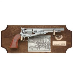 Civil War Union Non-Firing Pistol Set Dark Wood