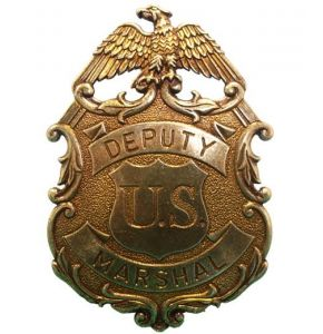 US Deputy Brass Marshal Eagle Badge