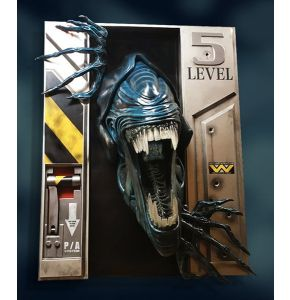 Alien Queen Life Size Wall Sculpture