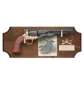 General Custer Non-Firing Pistol Set Dark Wood