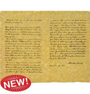 Gettysburg Address on Aged Parchment