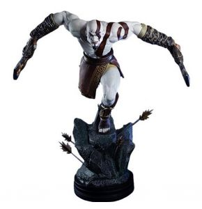 God of War Lunging Kratos Statue