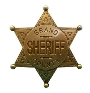Grand County Brass Sheriff Badge