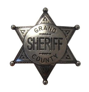Grand County Nickel Sheriff Badge