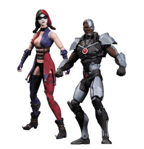 Injustice Cyborg Vs Harley Quinn Action Figure 2-Pack