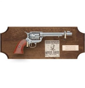 Jesse James Non-Firing Pistol Set Dark Wood
