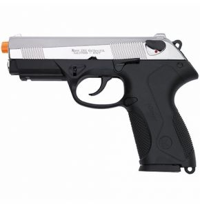 Kimar PK4 Front Firing Nickel & Black 9mm Blank Gun