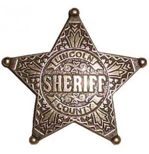 Pat Garrett's Lincoln County Sheriff Badge Replica