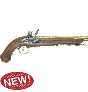 M1810 French Dueling Pistol Brass Non-Fire Replica