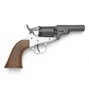 M1849 Nickel Pocket Revolver Non-Firing Replica