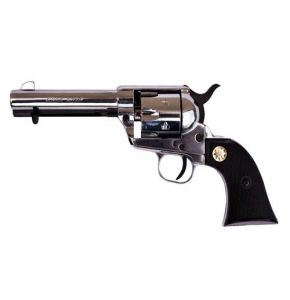 M1873 9mm Old West Nickel Blank Top-Fire Revolver