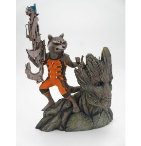 Guardians of the Galaxy Rocket Raccoon & Groot ArtFx Statue