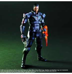 Mass Effect 3 Play Arts Kai Commander Shepard Figure