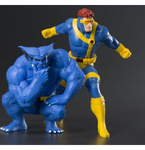 Marvel Universe X-Men '92 Cyclops & Beast ArtFX+ Statue Two Pack