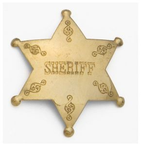 Antiqued Brass Sheriff's Badge Replica