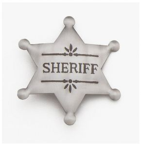 Antiqued Silver Deluxe Sheriff Badge Replica