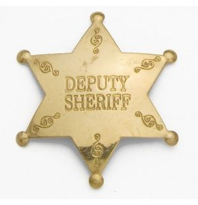 Antiqued Brass Deputy Sheriff Badge Replica