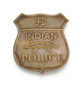 Old West Indian Police Badge Replica
