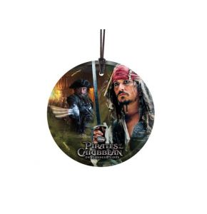 Jack & Blackbeard StarFire Prints Hanging Glass