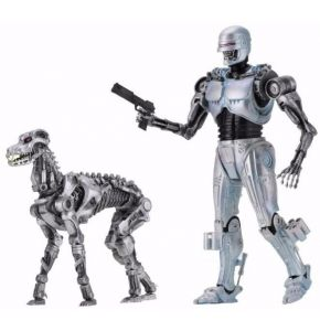 RoboCop vs Terminator EndoCop Terminator Dog Action Figure 2-Pk
